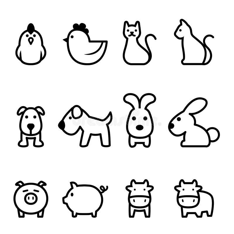 Podstawowa zwierzęca ikona royalty ilustracja