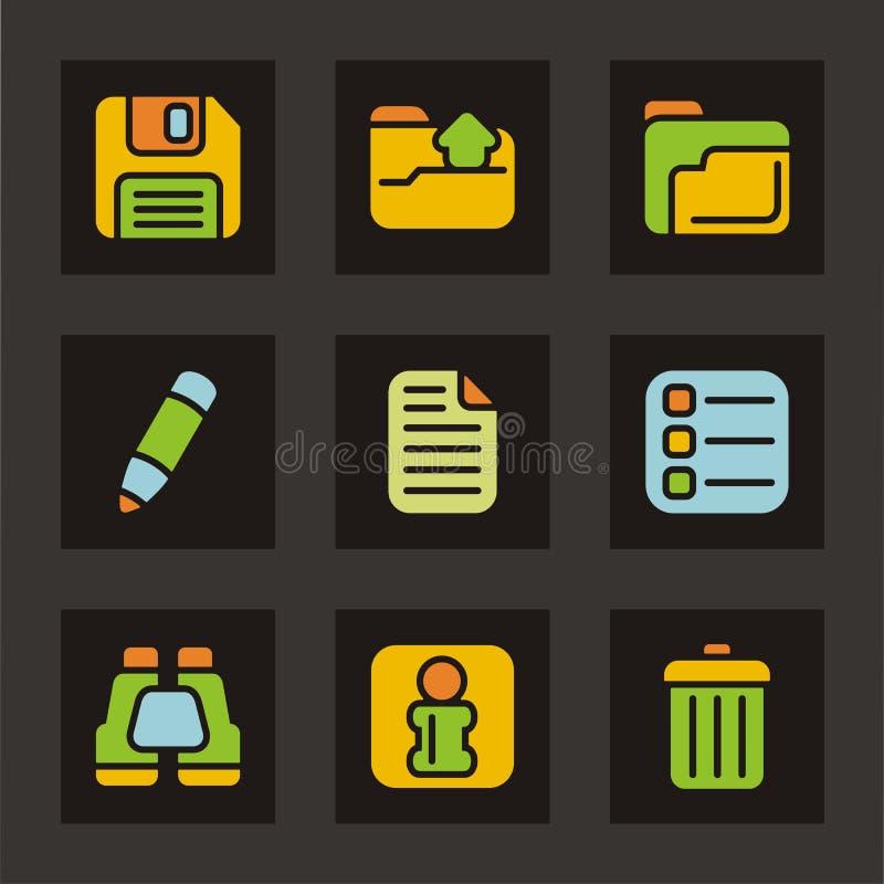 podstawowe kolor ikony z cyklu ikony royalty ilustracja
