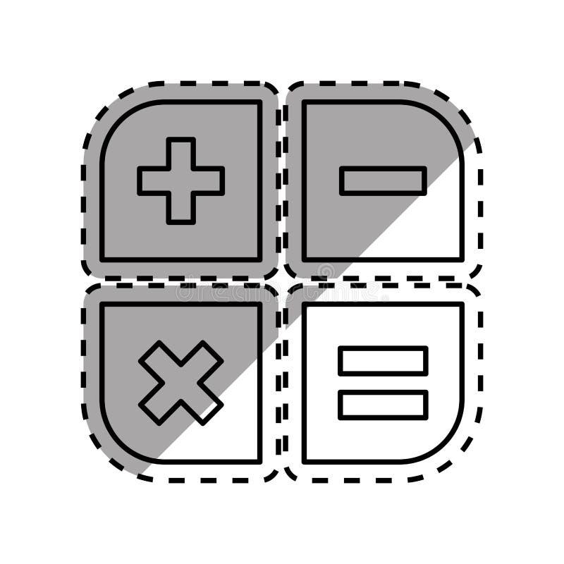 Podstawowe matematyk operacje ilustracji