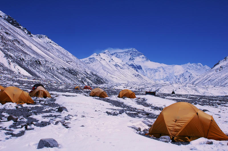 podstawowego obozu Everest góra obrazy royalty free