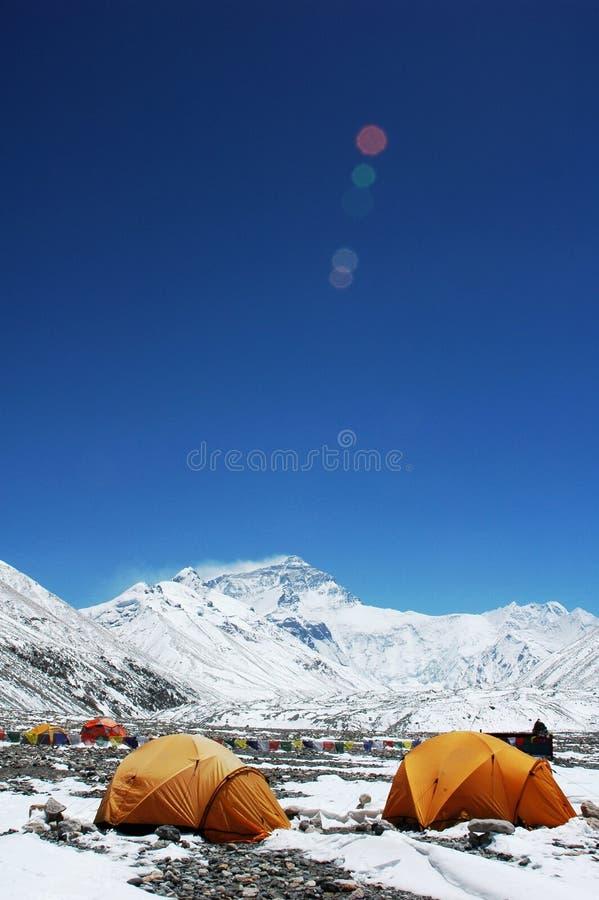 podstawowego obozu Everest góra zdjęcia stock