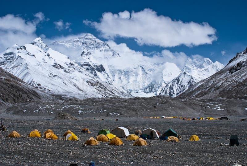 podstawowego obozu Everest góra zdjęcie royalty free