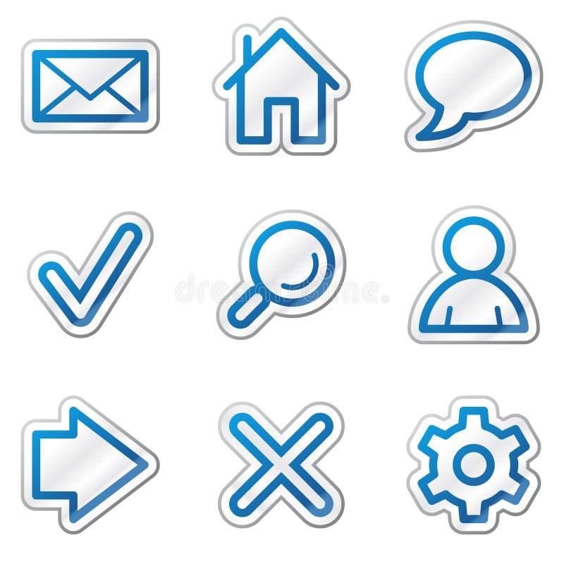 podstawowy błękit konturu ikon serii majcheru sieć