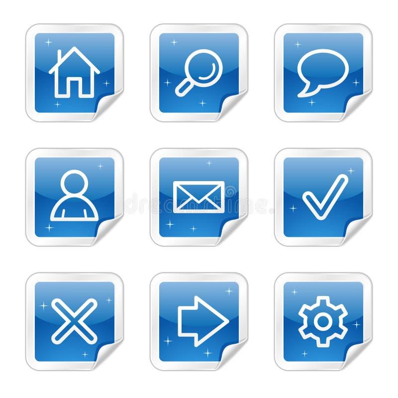 podstawowy błękitny ikon serii majcheru sieć royalty ilustracja