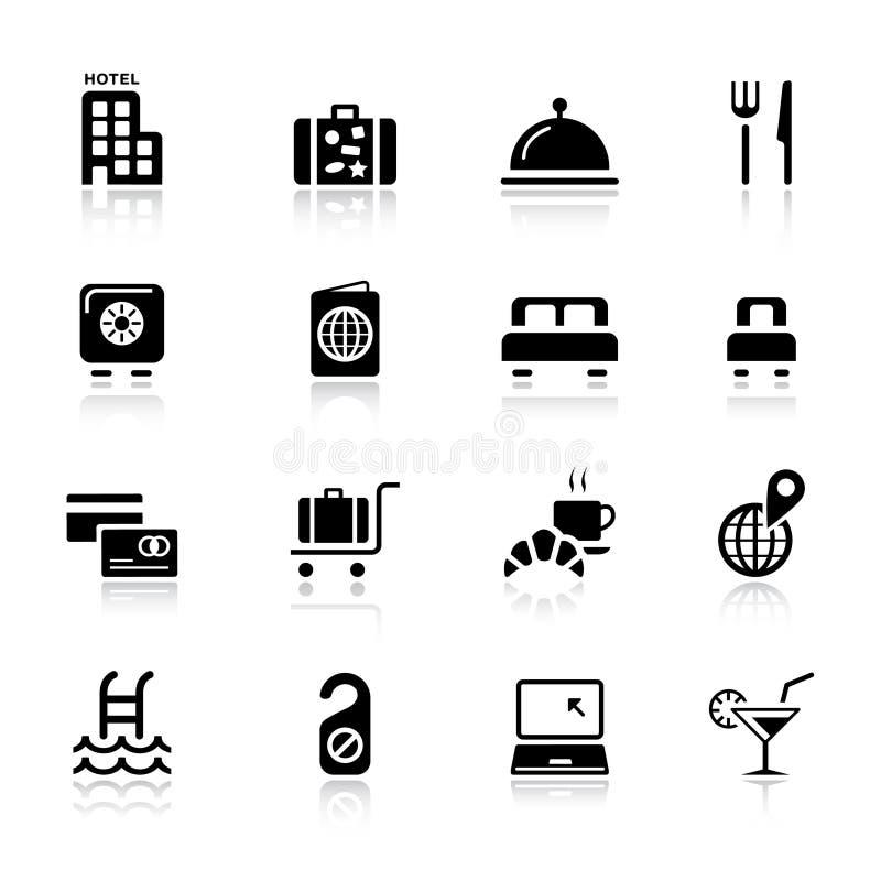 podstawowy hotelowe ikony ilustracji