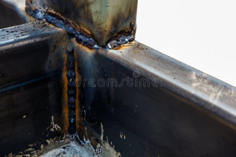 Podstawowy MIG spaw dla łagodnej stali zdjęcie stock