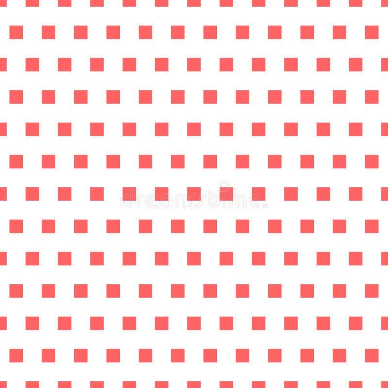 Podstawowy powtarzalny biel plus jeden koloru wzór Prosty geometryczny ilustracja wektor