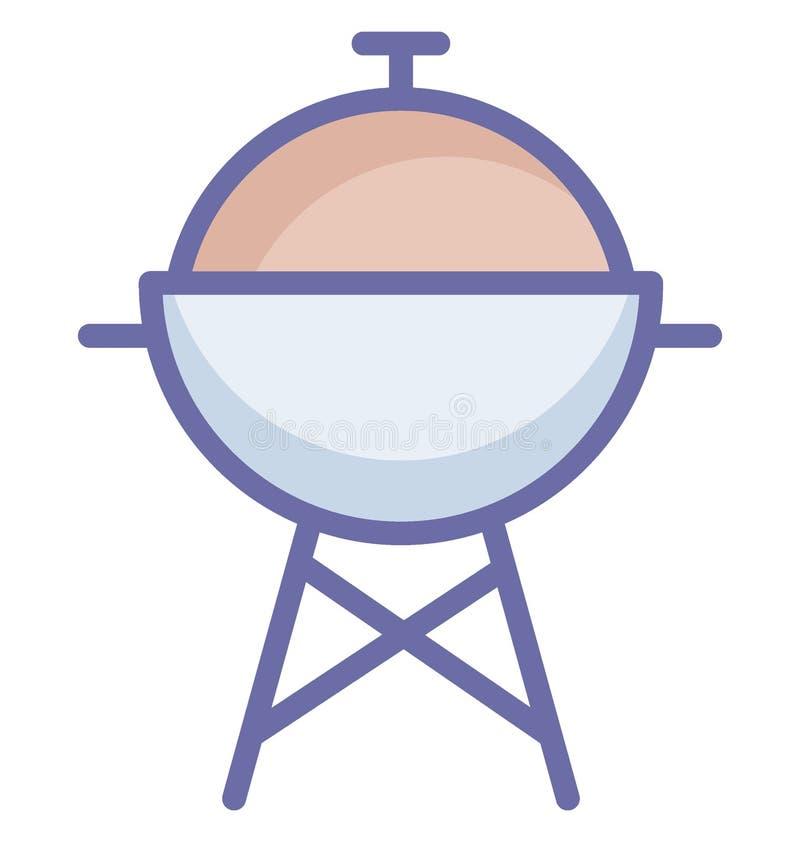 Podstawowy RGB grill Odizolowywał Wektorową ikonę która może łatwo modyfikować lub redagować grilla Odizolowywał Wektoro ilustracja wektor