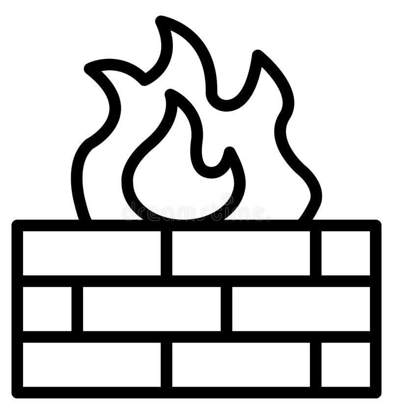 Podstawowy RGB grill Odizolowywał Wektorową ikonę która może łatwo modyfikować lub redagować ognisko Odizolowywał Wektorową ikonę ilustracji