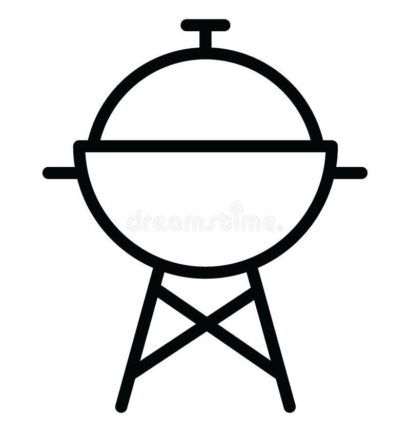 Podstawowy RGB grill Odizolowywa? Wektorow? ikon? kt?ra mo?e ?atwo redagowa? lub modyfikowa? royalty ilustracja