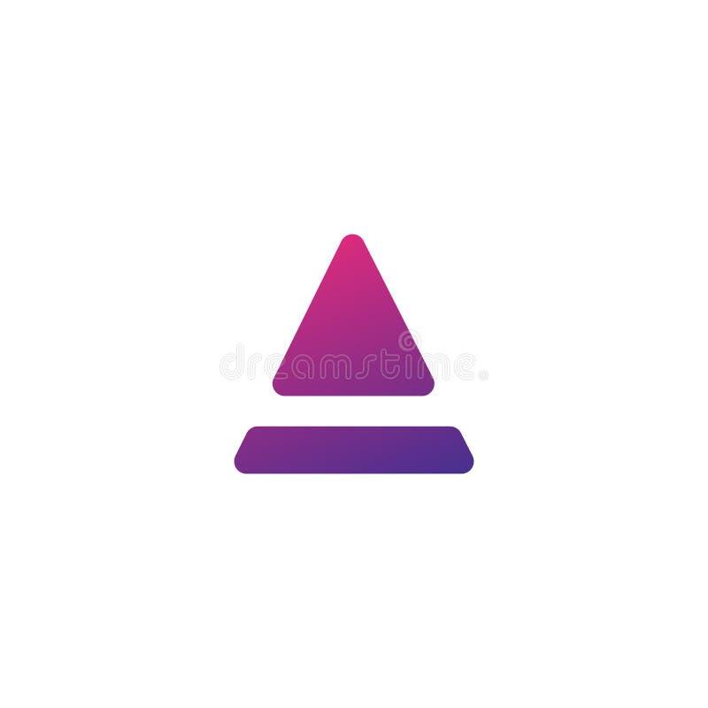 Podstawowy RGBLine list Alogotype Abstrakcjonistyczny poruszający powiewny logo ikony projekt, gotowego symbolu wektoru kreatywni ilustracja wektor