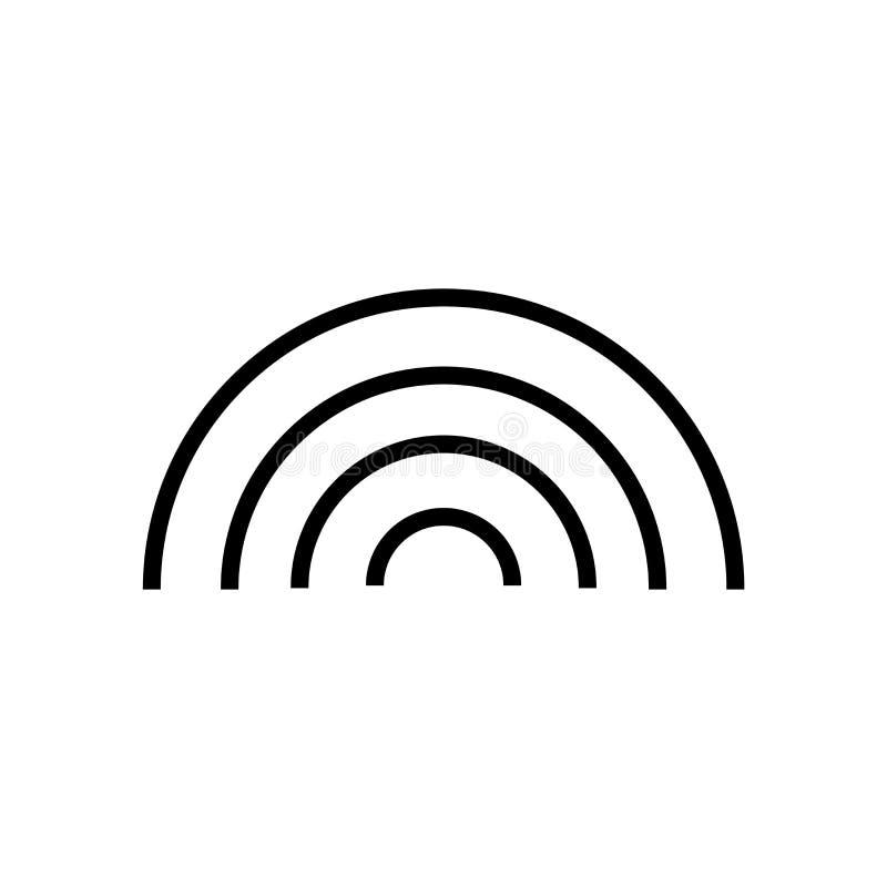 Podstawowy tęczy ikony wektoru znak i symbol odizolowywający na białym tle, Podstawowy tęcza logo pojęcie ilustracja wektor