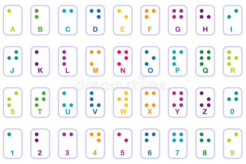 podstawy Braille kolorowe ilustracja wektor