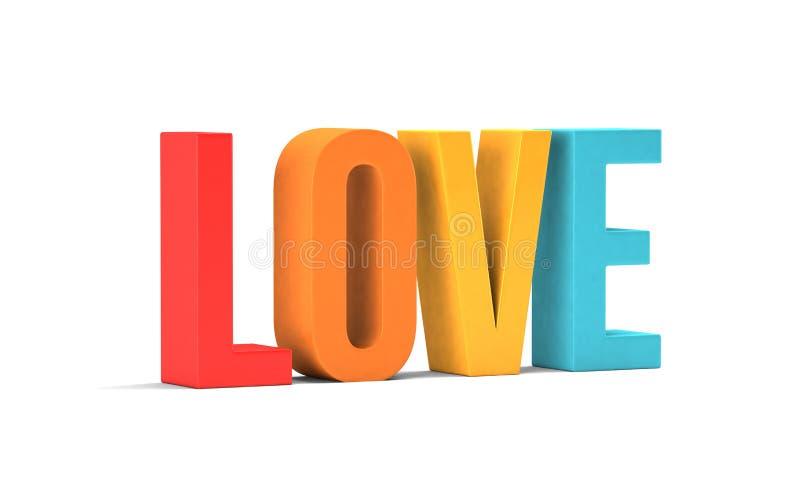 podstawy projekta rysunkowej graficznej ręki ilustracyjny miłości słowo 3d odpłacają się ilustrację w białym tle ilustracja wektor