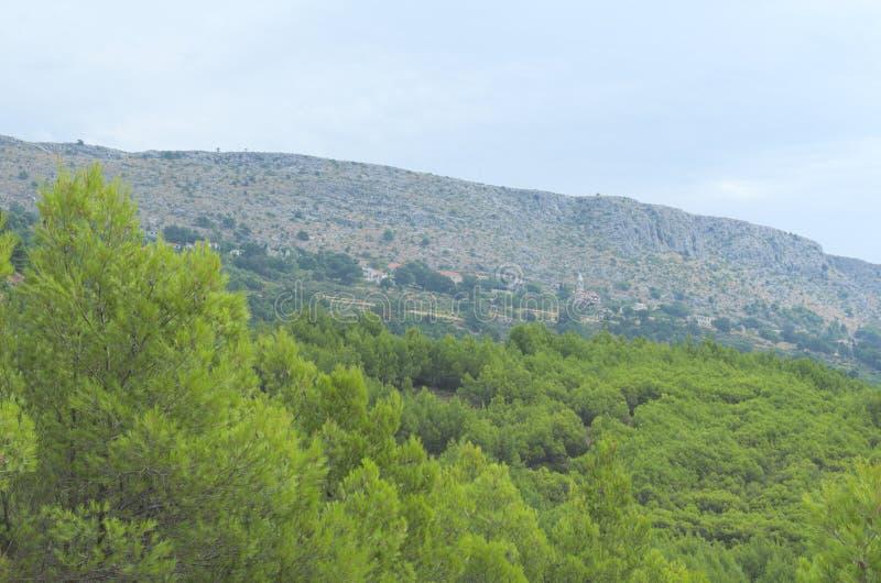 Podstrana superiore, Croazia su Hillside immagine stock