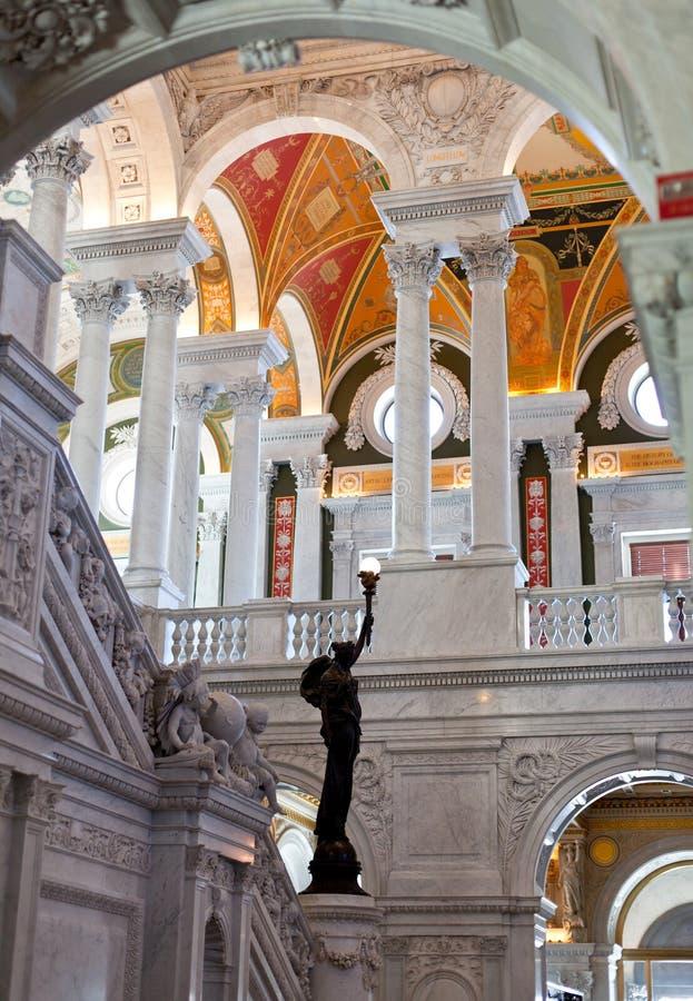 podsufitowa kongresu dc biblioteka Washington obraz royalty free