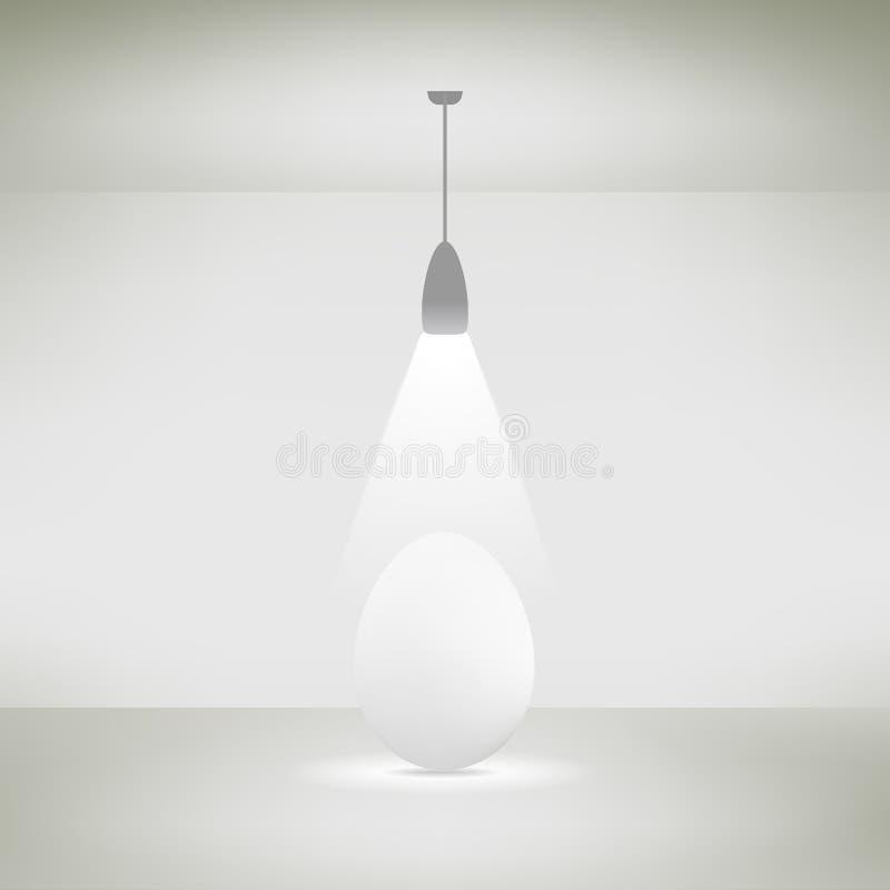 Podsufitowa lampa w izbowym iluminujący jajko również zwrócić corel ilustracji wektora ilustracja wektor