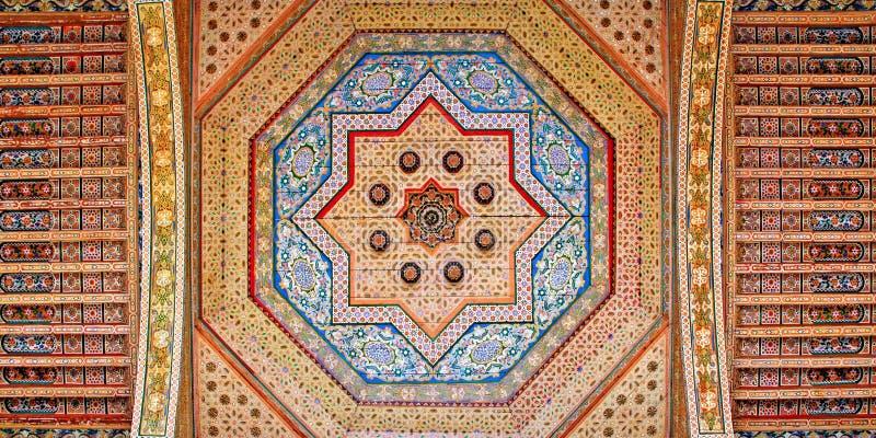 podsufitowa Marrakeszu Morocco dekoracja obrazy stock