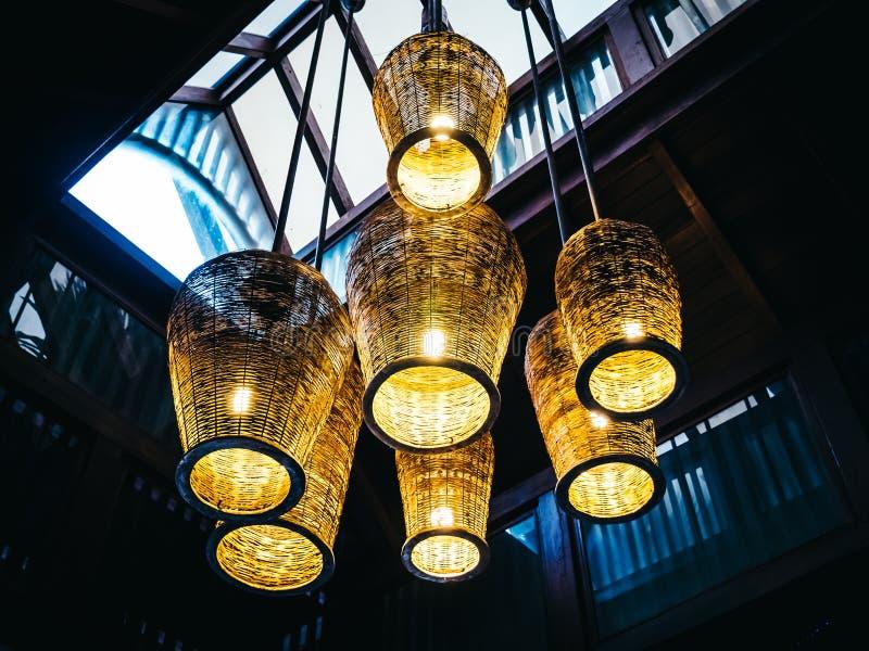 Podsufitowego światła dekoraci lampowy wnętrze obrazy royalty free