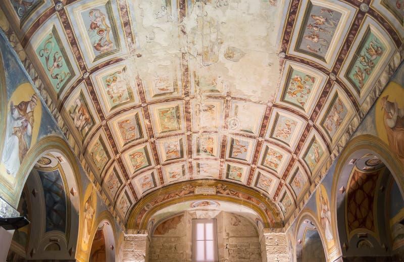 Podsufitowi obrazy kaplica szpital de Santiago, Ube obrazy stock