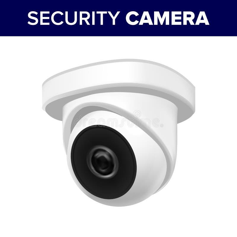 Podsufitowy nadzór ochrony kamera wideo wektor ilustracji