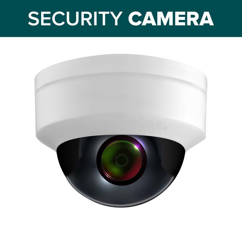 Podsufitowy Wideo inwigilacji kamery bezpieczeństwej wektor ilustracji