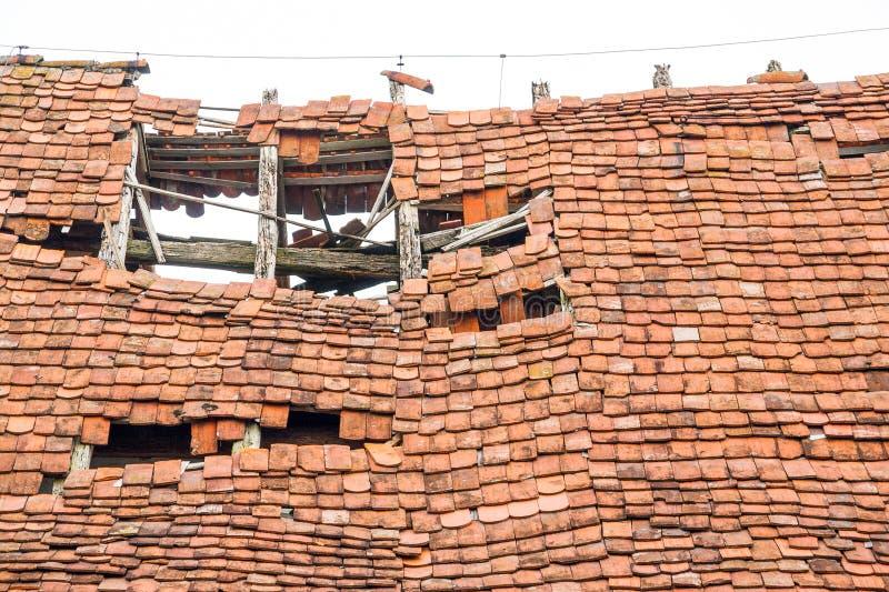 Podsumowanie stary dach zdjęcie stock
