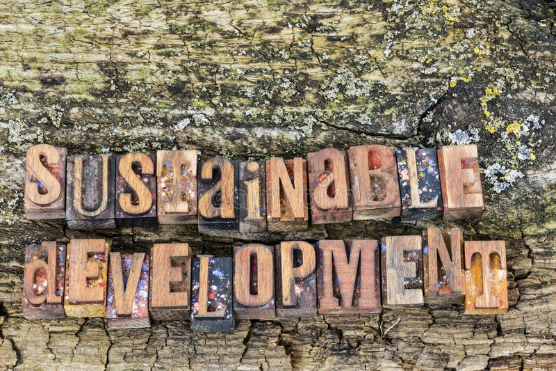 Podtrzymywalnego rozwoju drewna znak fotografia stock