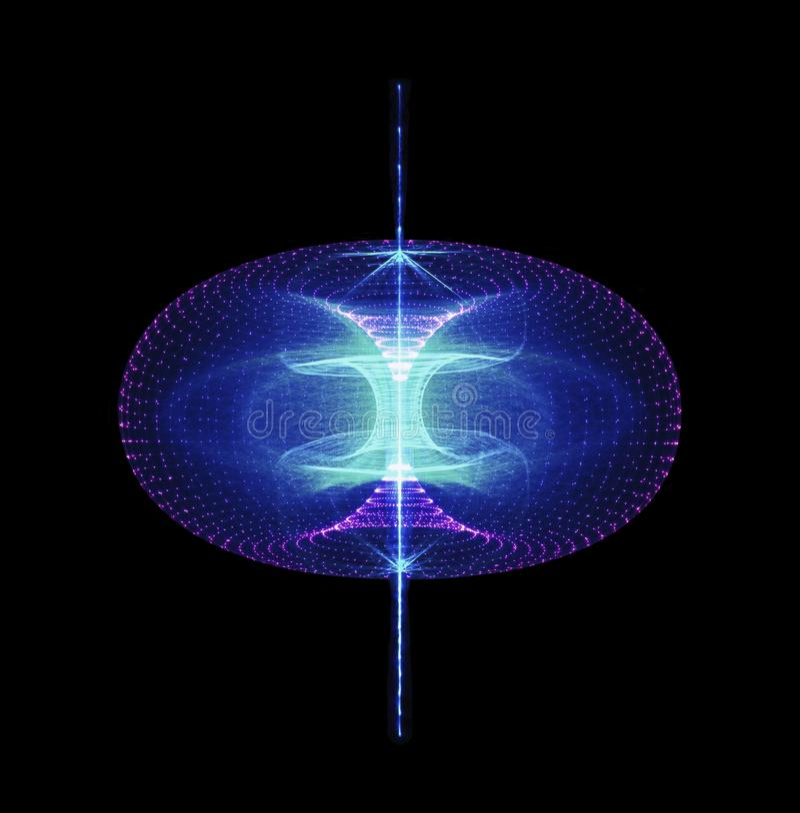 Podtrzymywalnej Wysokiej cząsteczki Energetyczny przepływ Przez torusa magnesowy ilustracja wektor