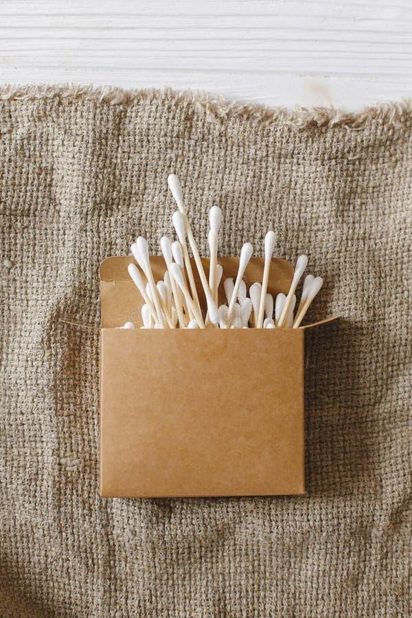 Podtrzymywalny stylu życia pojęcie Zero odpady eco naturalny bambus ea fotografia royalty free
