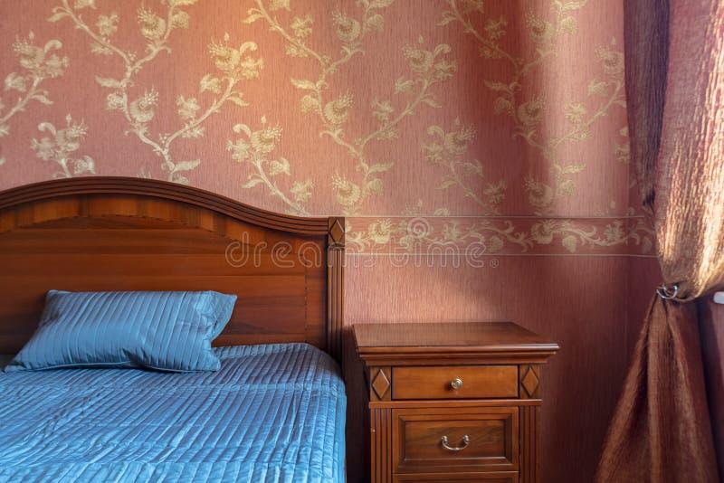 Poduszka na łóżku zdjęcie stock