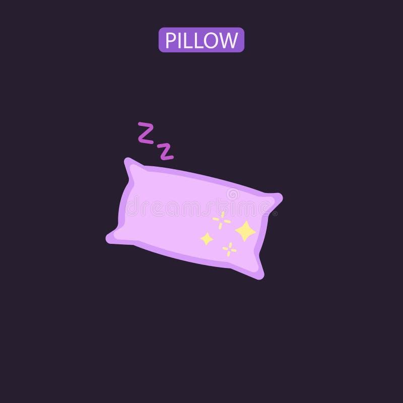 Poduszki płaska wektorowa ikona ilustracja wektor