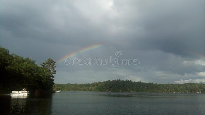 podwójna rainbow obraz royalty free