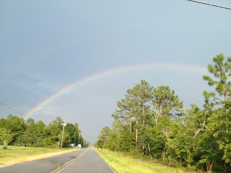 podwójna rainbow obraz stock