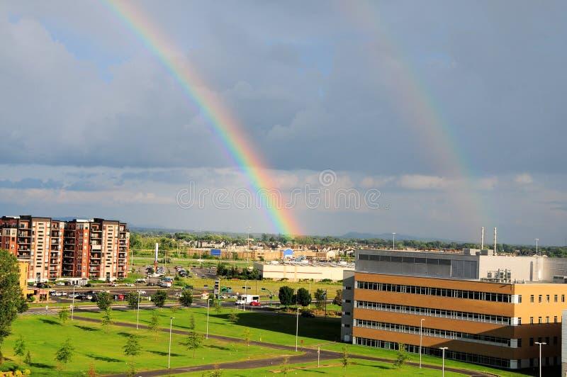 podwójna rainbow zdjęcie stock
