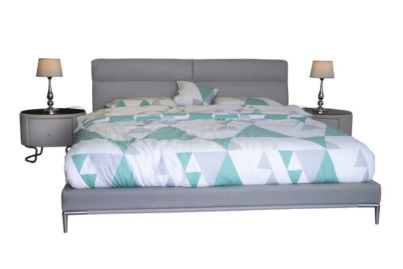 podwójne łóżka nowocześnie obrazy stock