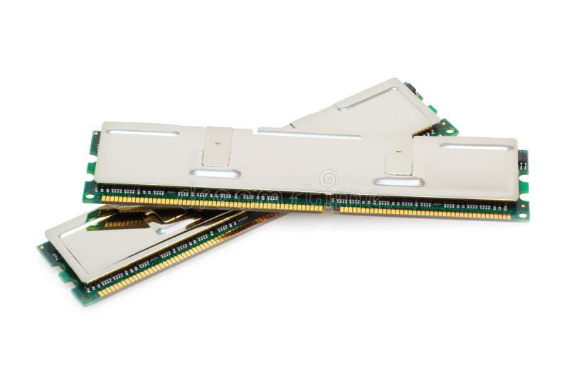 podwójny kanał pojedynczy zestaw white pamięci. zdjęcie stock
