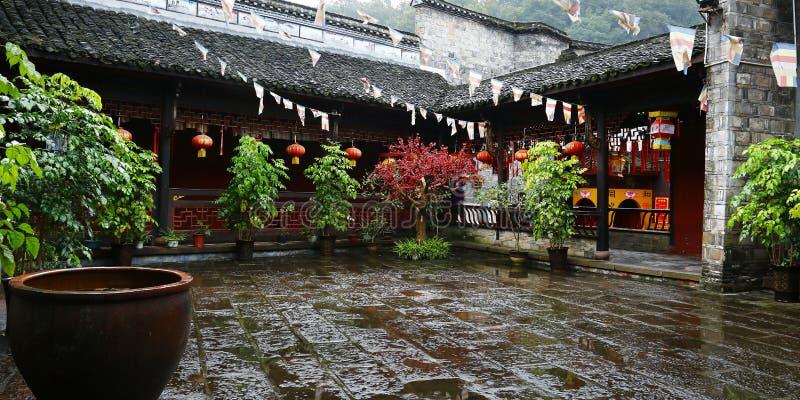 Podwórze Buddyjska świątynia obrazy stock