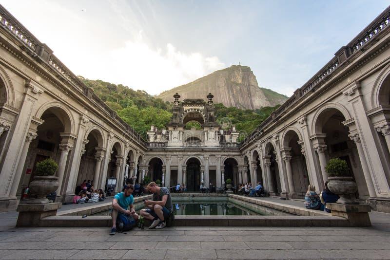 Podwórze dwór Parque Lage w Rio De Janeiro zdjęcia stock