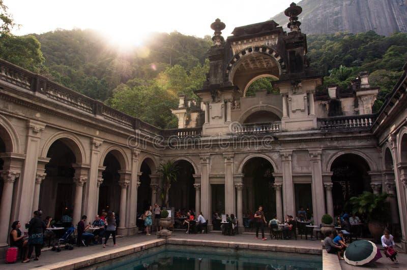 Podwórze dwór Parque Lage w Rio De Janeiro, Brazylia fotografia stock