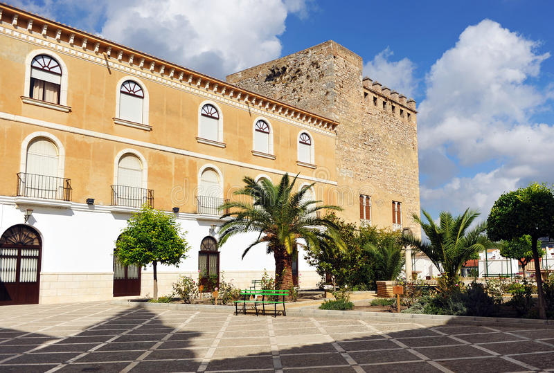 Podwórze kasztel Cabra, cordoby prowincja, Andalusia, Hiszpania obraz royalty free