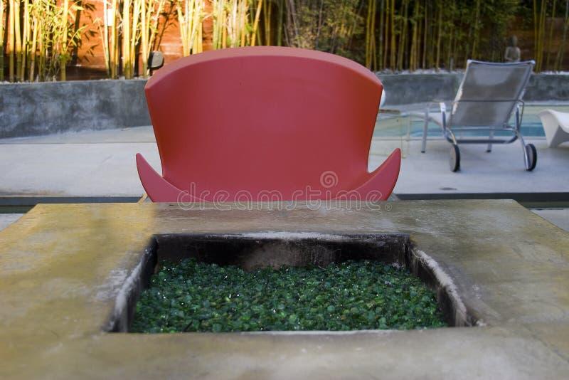 podwórze kominek zdjęcie stock