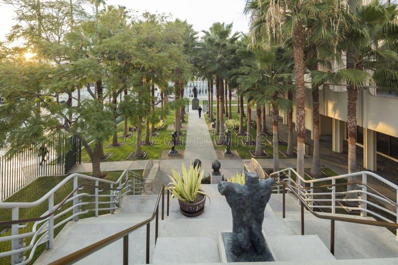 Podwórze Los Angeles okręgu administracyjnego muzeum sztuki zdjęcie royalty free