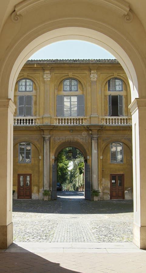 podwórze Rzymu obrazy royalty free