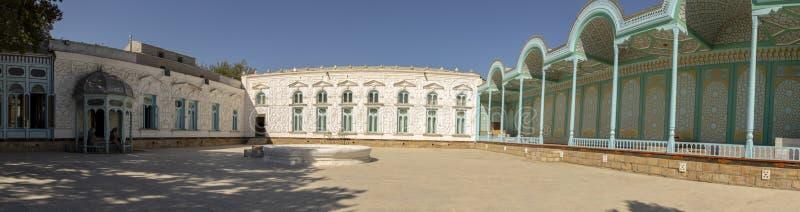 Podwórze Sitoral Mokhl Hosa, pałac księżyc i gwiazdy, Bukha zdjęcie royalty free