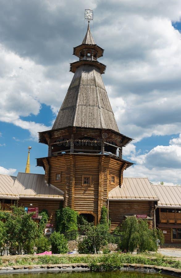 Podwórze w Izmaylovsky Kremlin w Moskwa Tradycyjny rosjanin zdjęcia royalty free