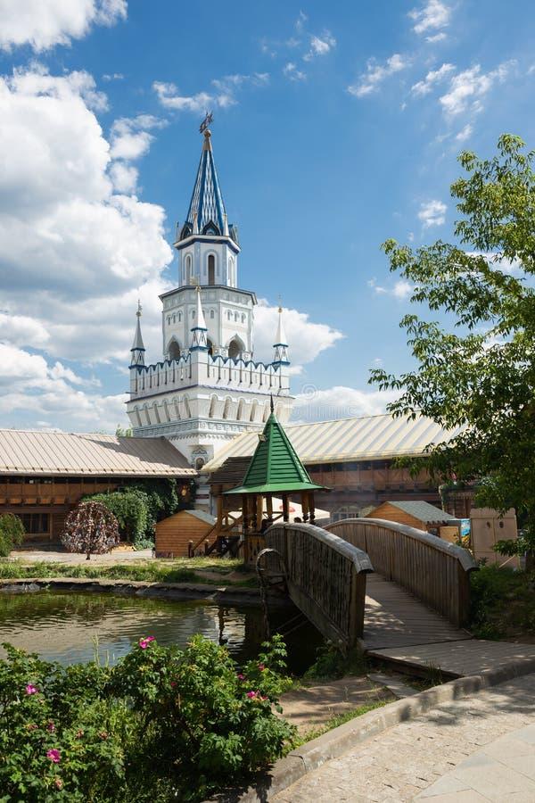 Podwórze w Izmaylovsky Kremlin w Moskwa Tradycyjny rosjanin fotografia royalty free