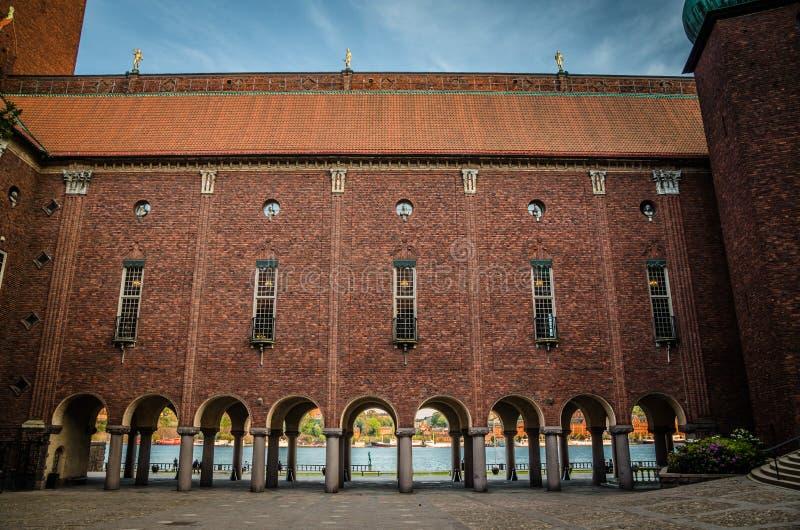 Podwórze w Sztokholm urząd miasta Stadshuset, Szwecja zdjęcie royalty free