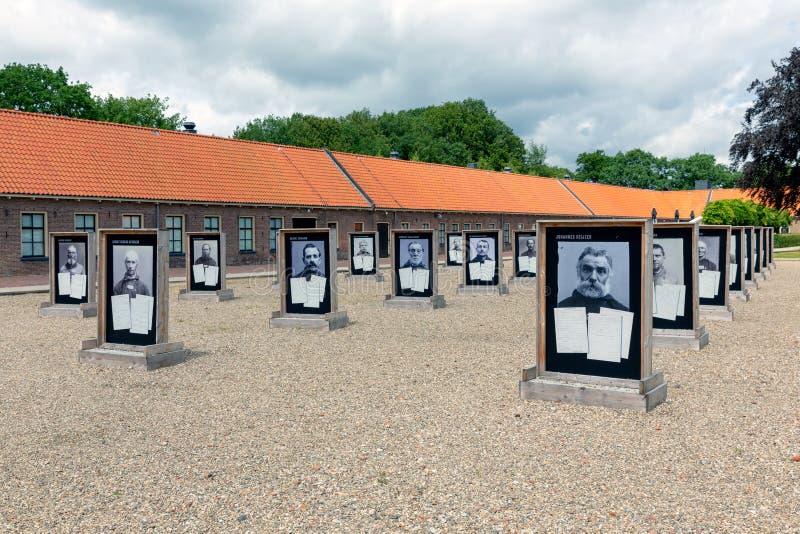 Podwórzowy poprzedni Holenderski reedukacja obóz z fotografiami poprzedni mieszkanowie obraz royalty free