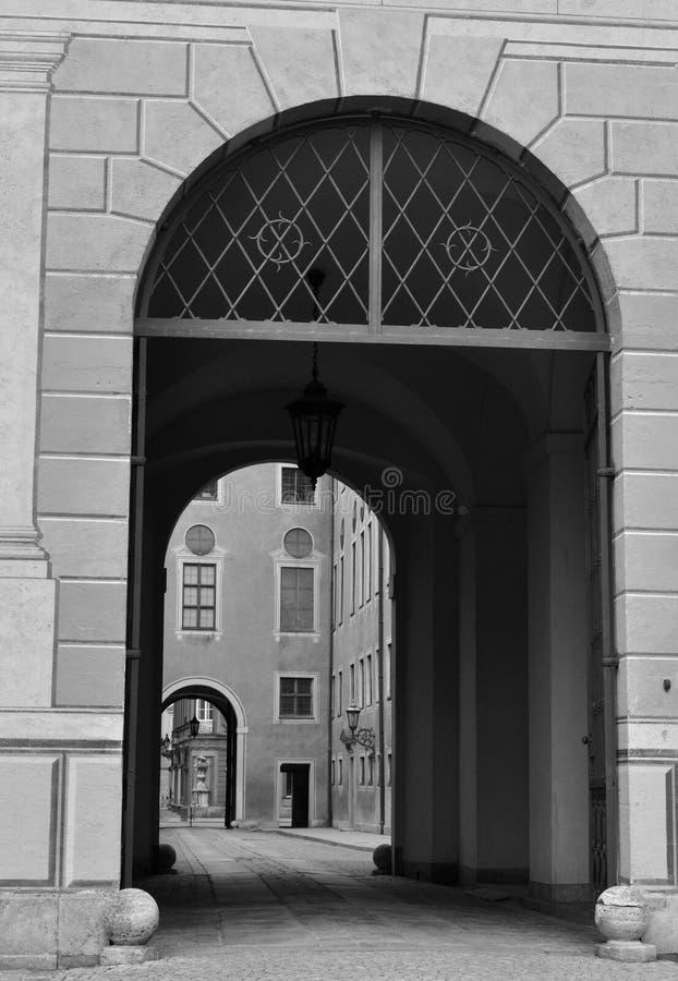 Podwórzowy szczegół Residenz pałac w Monachium zdjęcie stock